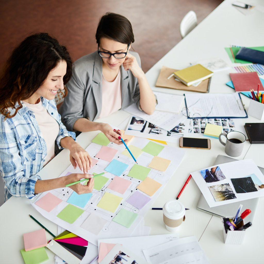 Contemporary Women Planning Work